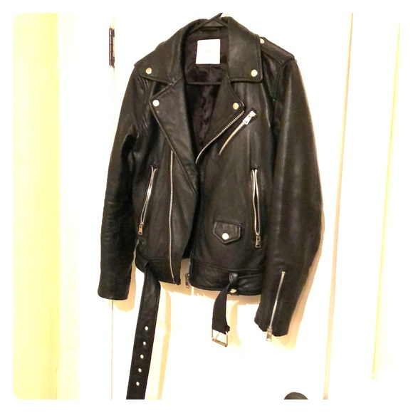 7b925360684 Mango genuine leather biker jacket. M 5c7a146e0cb5aaa02d3867e5